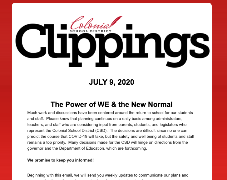 Colonial Clippings: July 9th