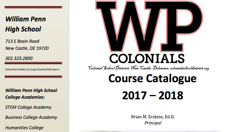 WPHS Course Catalogue