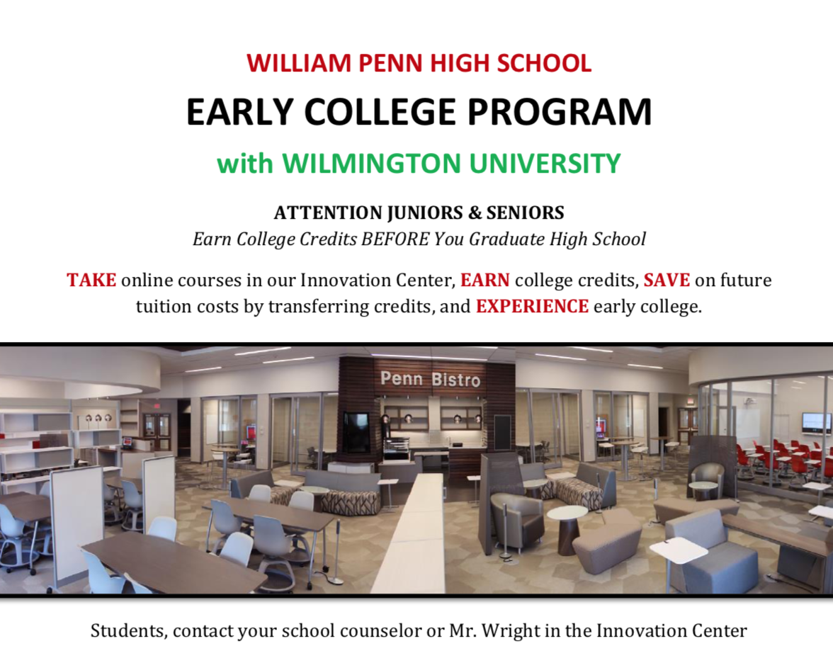 William Penn High School An Innovative High School In New Castle Delaware