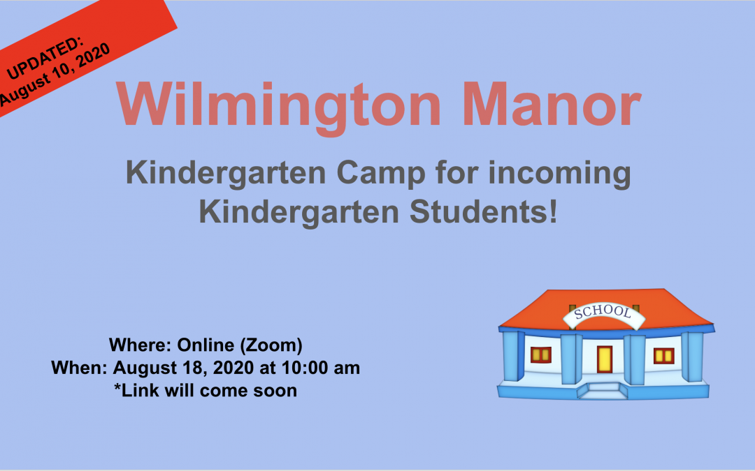 Kindergarten Camp Updated