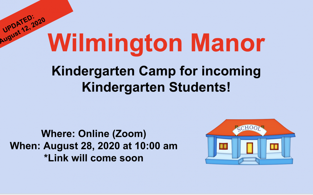 Kindergarten Camp – Updated August 12, 2020